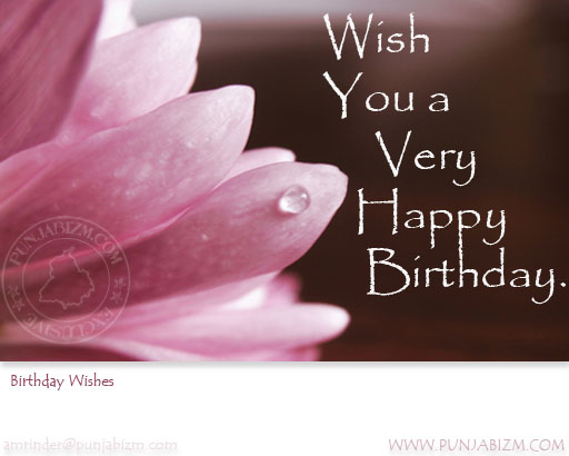 Birthday wishes from punjabizm.com