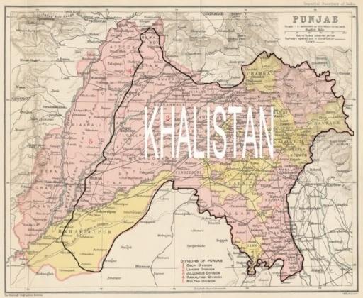 KHALISTANI MAP