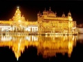 A night view of Shri Harimandar Sahab at Amritsar
